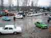 Abkhazia - Abkhazia - Psou / Russian border: impovised market - car boot sales - photo by A.Kilroy