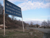 Abkhazia: Abkhazian border sign - cease fire line - photo by A.Kilroy