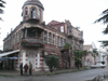 Abkhazia - Sukhumi: street corner - photo by A.Kilroy