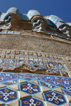 Afghanistan - Herat - The Musalla complex - tiles - photo by E.Andersen