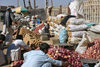Afghanistan - Herat - vegetables sold in front of the citadel - photo by E.Andersen