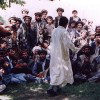 Afghanistan: Kuchi man dancing - a Kuchi is a transhumant or nomadic pastoralist - photo by Anne Dinnan