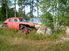 Åland Islands - Fasta Åland - remains of Soviet GAZ M-20 Pobeda and US Ford - photo by P&T Alanko