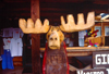 Alaska - Talkeetna / TKA: wooden moose at the visitors center (photo by F.Rigaud)