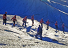 Alaska - Glacier Bay NP: Glacier Track - group climbing - photo by A.Walkinshaw