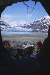 Alaska - Glacier bay - bivouac in front of Margerie glacier - photo by E.Petitalot