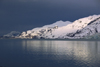 Alaska - Glacier bay - sunset on a snow-covered mountain - photo by E.Petitalot