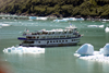 Alaska's Inside Passage - Tracy Arm Fjord : the Spirit of Columbia with a new load of tourists (photo by Robert Ziff)