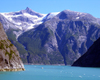 Alaska's Inside Passage - Tracy Arm Fjord: mountains and cliffs - leaving (photo by Robert Ziff)