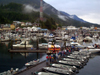 Alaska - Ketchikan: queuing at the marina (photo by Robert Ziff)