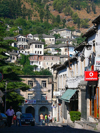 Gjirokaster, Albania: street scene - going down, going up - photo by J.Kaman