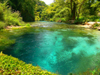 Vlorë county, Albania: Syri i Kalter / Blue Eye Spring - 25 m deep fresh water - photo by J.Kaman