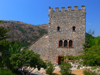 Butrint, Sarandë, Vlorë County, Albania: tower and sky - photo by J.Kaman