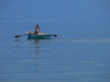 Pogradec, Kor�� County, Albania: rower on Ohrid Lake - photo by J.Kaman