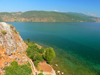 Lin, Pogradec, Kor�� county, Albania: banks of lake Ohrid - photo by J.Kaman