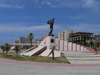 Durres / Drach, Albania: war monument - photo by J.Kaman