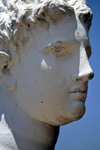 Butrint, Sarandë, Vlorë County, Albania: bust of Apollo, the so-called 'Goddess' of Butrint, of the Anzio type - archeological site - UNESCO World Heritage Site - photo by A.Dnieprowsky