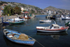 Sarandë, Vlorë County, Albania: fishing boats and the bay - photo by A.Dnieprowsky