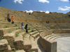 Algeria / Algerie - Timgad: visiting the Roman theatre - UNESCO World Heritage - photo by J.Kaman