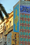 Oran, Algeria / Algérie: tiles of the Stele of the Maghreb - sea front - Place Bamako - avenue Cheikh Larbi Tebessi - photo by M.Torres |  carreaux - Stèle du Maghreb - Front de Mer - Place Bamako - Avenue Cheikh Larbi Tebessi, ex-Avenue Loubet