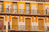 Oran, Algeria / Alg�rie: yellow and white balconies - Oran's colonial architecture - Bd Maata Mohamed El Habib - former Bd Joffre - photo by M.Torres |  balcons en jaune et blanc - l'architecture coloniale d'Oran - Boulevard Maata Mohamed El Habib - ex Boulevard Mar�chal Joffre