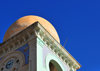 Biskra, Algeria / Alg�rie: detail of the bell tower of the old city hall - photo by M.Torres | d�tail du clocher de l'ancien h�tel de ville