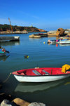 Tipaza, Algeria / Alg�rie: boat in the port | bateau dans le port - photo by M.Torres