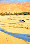 Biskra, Algeria / Alg�rie: Oued El Abiod - zigzaging stream on the wadi - photo by M.Torres | Oued El Abiod - zig-zag