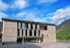 Andorra la Vella, Andorra: new building of the General Council of Andorra - western fa�ade - architects Ramon Artigues, Ramon Sanabria y Pere Espuga - Consell General d'Andorra - Carrer de la Vall -  old town - photo by M.Torres