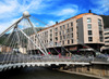 Andorra la Vella, Andorra: Pont de Par�s - Cable-stayed bridge over the Gran Valira river - opened in 2006 by the head of the government, Albert Pintat Santol�ria - Avinguda del Consell d'Europa - civil engineering by Carlos Fern�ndez Casado - photo by M.Torres