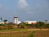 The Valley, Anguilla: tower of Wallblake Airport - AXA - Clayton J. Lloyd International Airport, named after Anguilla's foremost aviation pioneer - photo by M.Torres