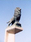 Aragon - Aragon - Spain - Zaragoza / Saragossa / ZAZ: lion guarding the Santiago bridge - puente de Santiago (photo by M.Torres)