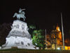 Argentina - Córdoba - Plaza San Martin - statue of General José de San Martín and the Cathedral - nocturnal - images of South America by M.Bergsma