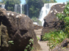 Argentina - Iguazu Falls - rocks and the falls - images of South America by M.Bergsma