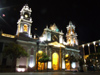 Argentina - Salta - Cathedral fa�ade - Plaza 9 de Julio - nocturnal - images of South America by M.Bergsma