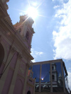 Argentina - Salta - Cathedral reflecting on glass fa�ade - images of South America by M.Bergsma