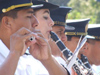 Argentina - Salta - Day of the Cuerpo infantil de policia - musicians - images of South America by M.Bergsma