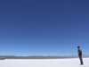 Argentina - Salta province - Salinas Grandes - horizon - man and salt - images of South America by M.Bergsma