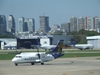 Argentina - Buenos Aires - Airplanes waiting at Aeroparque Jorge Newbery - CX-PUC - Pluna A�rospatiale ATR-42-320 - aircraft - airport scene - images of South America by M.Bergsma