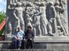 Argentina - Buenos Aires - Locals at La Boca - fishermen monument - images of South America by M.Bergsma