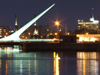 Argentina - Buenos Aires - Puerto Madero - harp bridge - nocturnal - images of South America by M.Bergsma