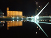 Argentina - Buenos Aires - Puerto Madero - harp bridge reflection - nocturnal - images of South America by M.Bergsma