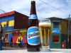 Argentina - Buenos Aires - Quilmes beer at La Boca - bootle and glass - images of South America by M.Bergsma