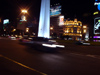Argentina - Buenos Aires: the Obelisk at night - Obelisco - noche (photo by Adrien Caudron)