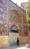 Armenia -  Yerevan: tiled fa�ade of the Gei Mosque - Persian Mosque - Mashtots avenue (photo by M.Torres)