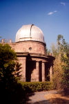 Armenia -  Yerevan: astronomical observatory - telescope - dome (photo by M.Torres)