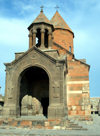Armenia - Khor Virap, Ararat province: the monastery - porch of Astvatsatsin Church - photo by A.Ishkhanyan