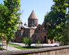 Armenia - Echmiatzin, Armavir province: Cathedral of St. Echmiatzin, the oldest in the world, founded in 303 AD - from outside the walled compound - UNESCO world heritage site - photo by S.Hovakimyan