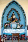 Aruba - Alto Vista: altar at the chapel (photo by M.Torres)