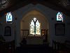 Ascension island: Georgetown -St Mary's church - windows - interior - stained glass ( photo by Cpt Peter)